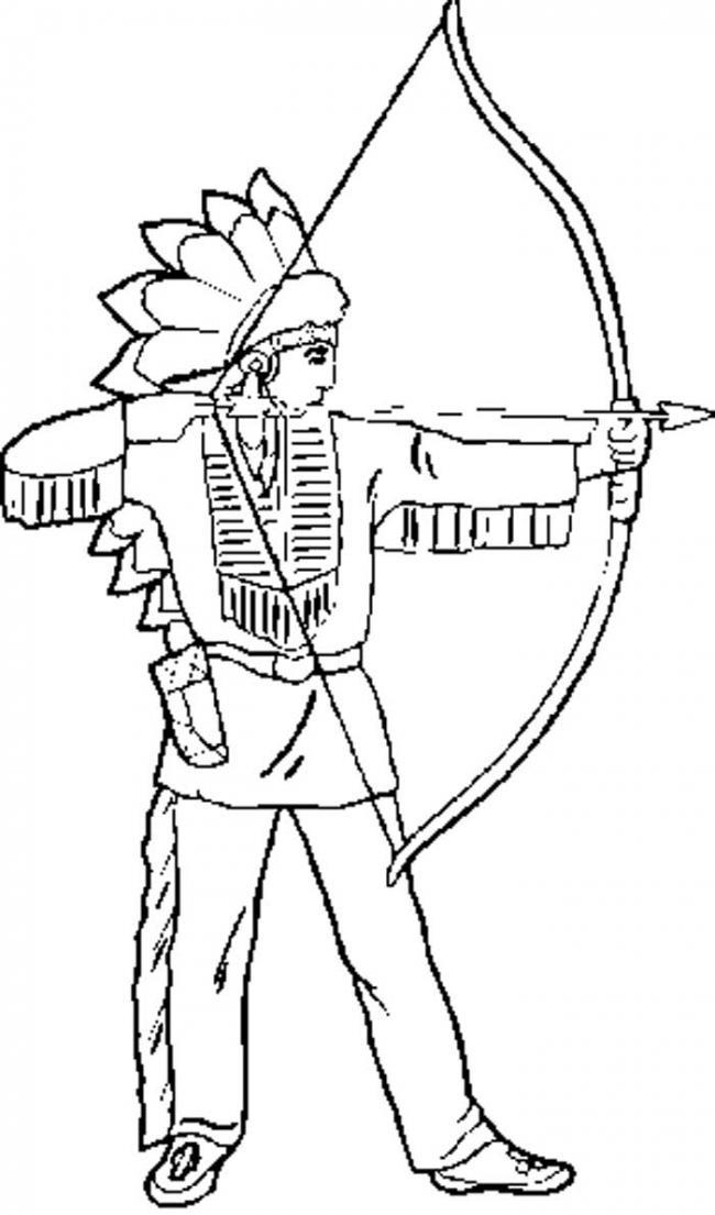 Нарисовать индейца детям